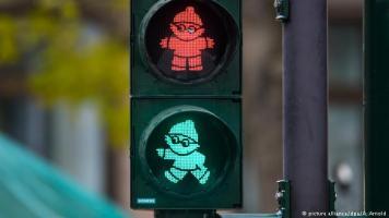 美茵茨小人紅綠燈(圖片來源: 德國之聲)
